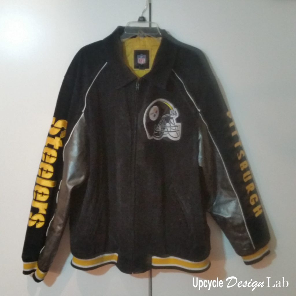 Finished Repair of Steeler Jacket
