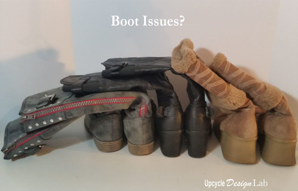Floppy boots in need of boot trees