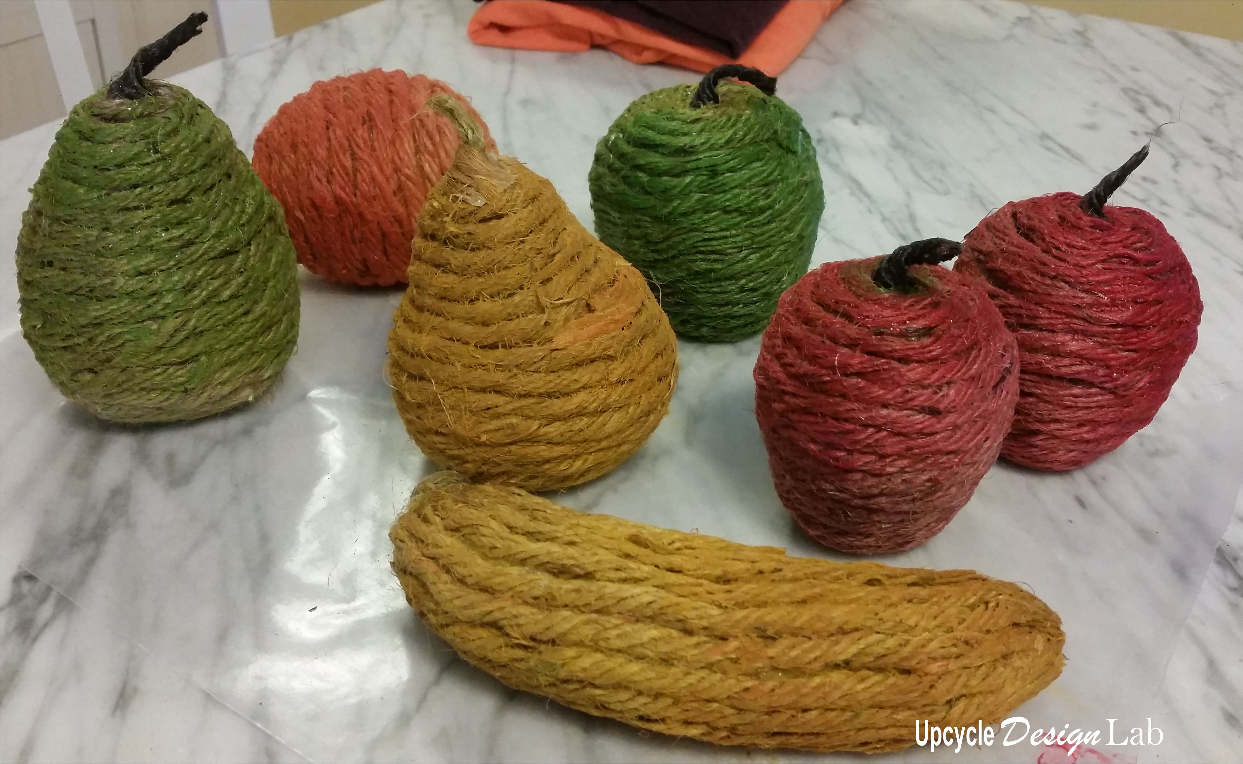 Twine wrapped fruit