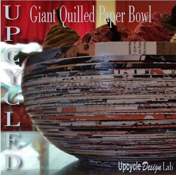 Big paper quilled bowl with faux fruit