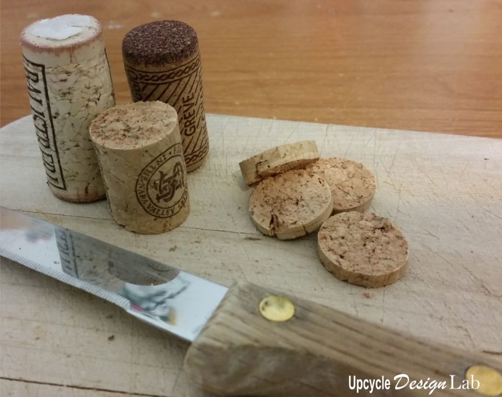 Cutting wine corks
