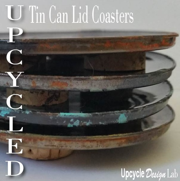 Upcycled Tin Can Lid Coasters