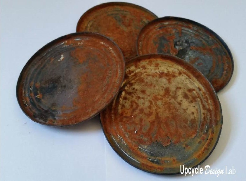Rusted Tin Can Lids