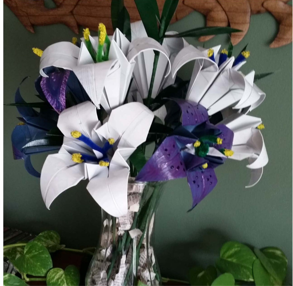 Junk Mail Origami Seed Bouquets